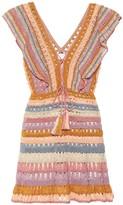 Anna Kosturova Crochet-cotton minidress