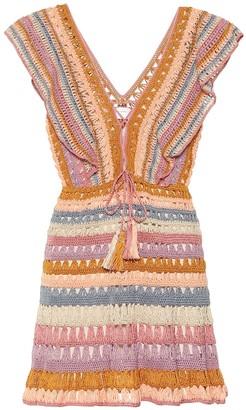 Anna Kosturova Melissa crochet-cotton minidress