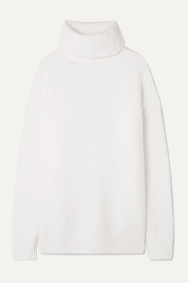 ATM Anthony Thomas Melillo Chenille Turtleneck Sweater - Cream