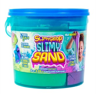 Slimygloop Slimysand 3 - in - 1 Bucket 5 lb - Blue / Green / Orange