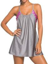 Imilan Women 2 PiecesTankini Dress and Boyshort Swimsuit (3XL, )