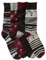 Lucky Brand Stripe Socks - Pack of 4