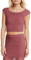 BCBGeneration Off-the-Shoulder Seamless Crop Top