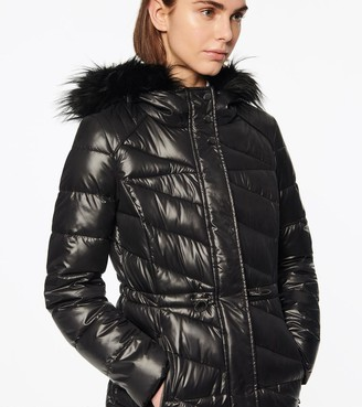 Andrew Marc Ventura Asymmetrical Quilted Synthetic Down Coat