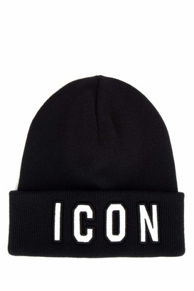 DSQUARED2 Icon Embroidered Knitted Beanie