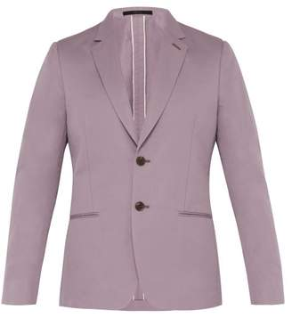 Paul Smith Single-breasted Cotton-blend Blazer - Mens - Purple
