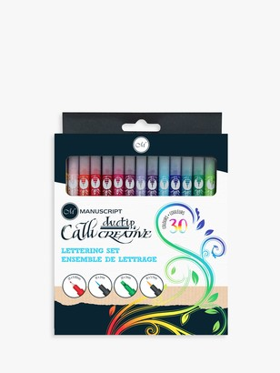 Manuscript Callicreative Duo Tip Pen Set, Set of 30