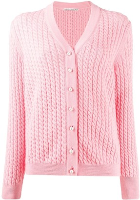 Alessandra Rich Twisted Rope Detail Cardigan