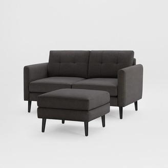 "west elm Burrow Nomad Loveseat with Ottoman (61"")"