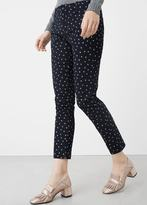 MANGO Printed Cotton Trousers