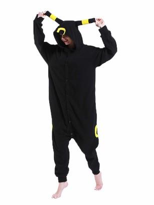 FORLADY Unisex Umbreon Animal Pajamas Adult Cosplay Custume Halloween Sleepwear