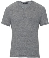 Vince Feeder Striped Linen T-shirt