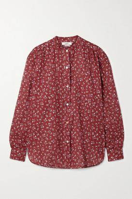 Etoile Isabel Marant Mexika Floral-print Cotton-voile Shirt - Claret