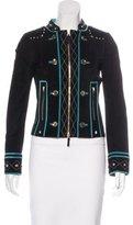 Gucci Suede Embellished Jacket
