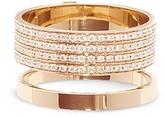 Repossi 'Berbère' diamond pavé 18k rose gold two row ring