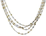 Platinum 18K Yellow and Rose Gold Diamonds Necklace