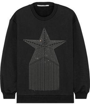 Stella McCartney Bead-embellished French Cotton-terry Sweatshirt
