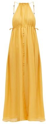 Cult Gaia Agatha Keyhole-front Silk Dress - Yellow