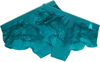 Ann Summers 2 Pairs Ladies Sexy Lace Briefs Teal 2 Sizes (8 UK)