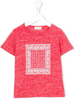 Simple bandana print T-shirt - kids - Cotton/Polyester - 3 yrs