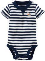 Carter's Baby Boy Striped Dog Applique Bodysuit