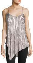 Willow & Clay Pleated Asymmetric Tank