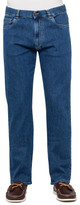 Canali 91700 PD0018 Cotton Elastane Denim Jeans