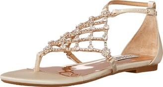 Badgley Mischka Women's Ankle Strap Flat Sandal
