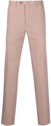 Pt01 Check-Print Tailored Trousers