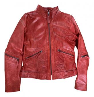 Oakwood Red Leather Jackets