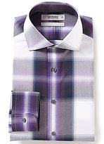 Murano Slim-Fit Plaid Check Cutaway-Collar Dress Shirt