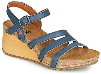 Art BORNE women's Sandals in Blue