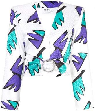 ATTICO cropped printed blouse
