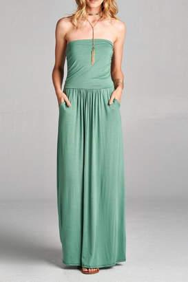 Love Kuza Strapless Casual Maxi Dress