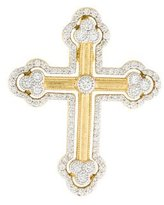 Jude Frances 18K Diamond Provence Cross Pendant