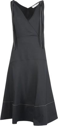 Proenza Schouler Sleeveless Long Tassel Detailed Dress