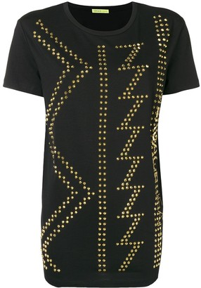 Versace Jeans Couture studded crew neck T-shirt