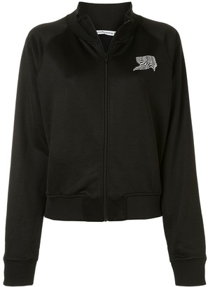 Alexander Wang Logo Print Zipped Jacket