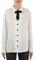 Gerard Darel Balth Tie-Neck Tuxedo Blouse