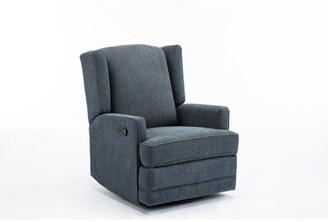 Red Barrel Studioâ® Yepez Swivel Recliner Red Barrel StudioA Upholstery Color: Blue