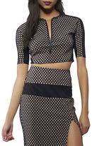 KENDALL + KYLIE Cropped Mesh Sports Top