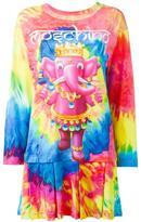 Moschino elephant tie dye effect dress