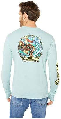 Hurley Cali Retro Premium Long Sleeve Tee (Sky Blue) Men's Clothing