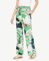 Ann Taylor Palm Leaf Pajama Trousers