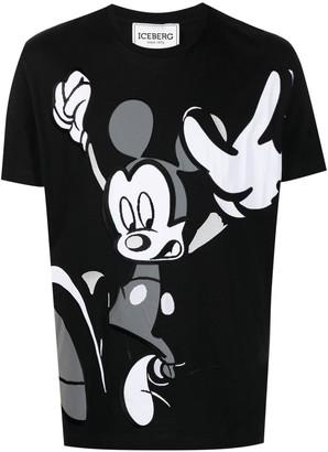 Iceberg Mickey Mouse-print cotton T-shirt
