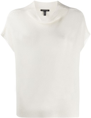 Eileen Fisher Funnel Neck Box Top