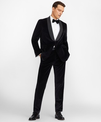 Brooks Brothers Regent Fit Shawl Collar Velvet Tuxedo