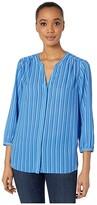 NYDJ Blouse w/ Pleated Back (Waterfront Stripe) Women's Blouse
