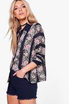 Boohoo Harper Floral Chiffon Shirt
