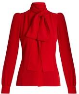 Sonia Rykiel Tie-neck silk blouse